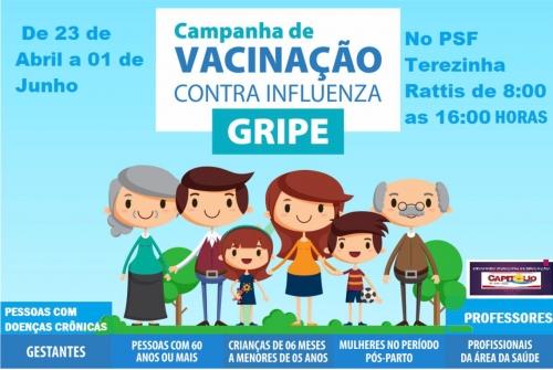 Vacinação contra gripe é prorrogada pelo governo.