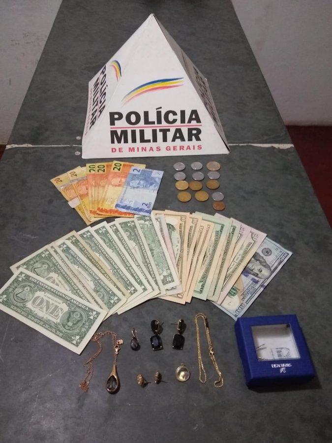 Furto a residência urbana com prisão dos autores e recuperação dos objetos furtados